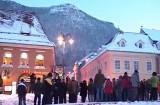 S-a protestat din nou la Braşov în ciuda gerului