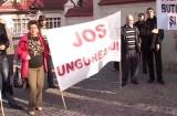 Protest la fostul Palat al Pionierilor
