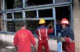 Incendiu la o fabrică din Codlea
