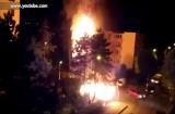 Incendiu la o pubelă din cartierul Tractorul