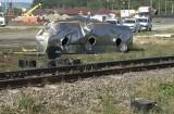 Locomotivă în flăcări