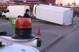 Accident rutier lângă o benzinărie